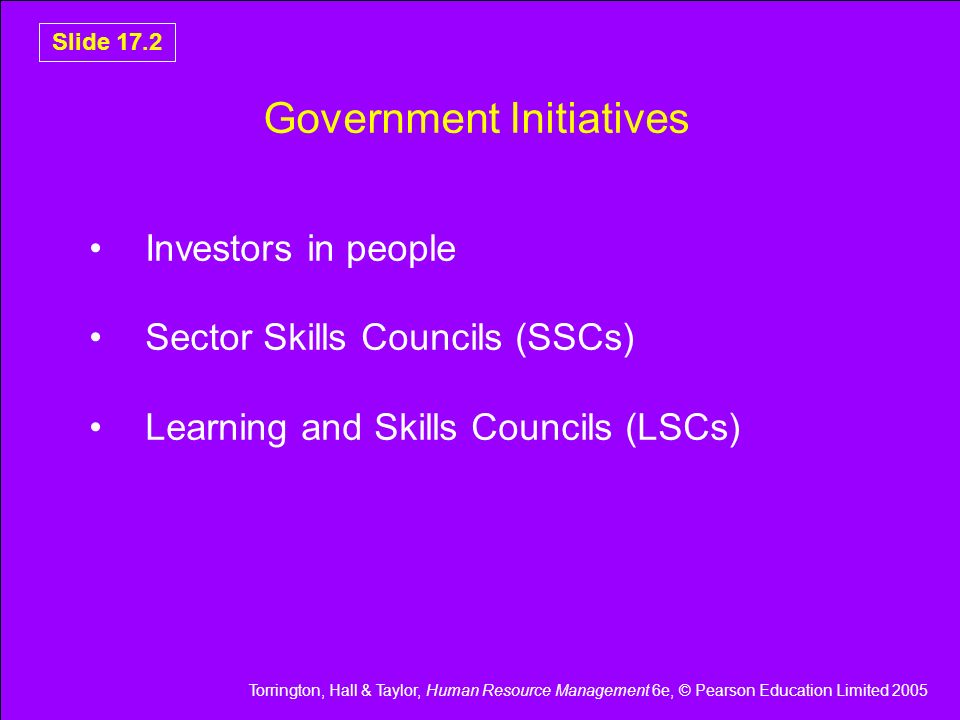 Government Initiatives