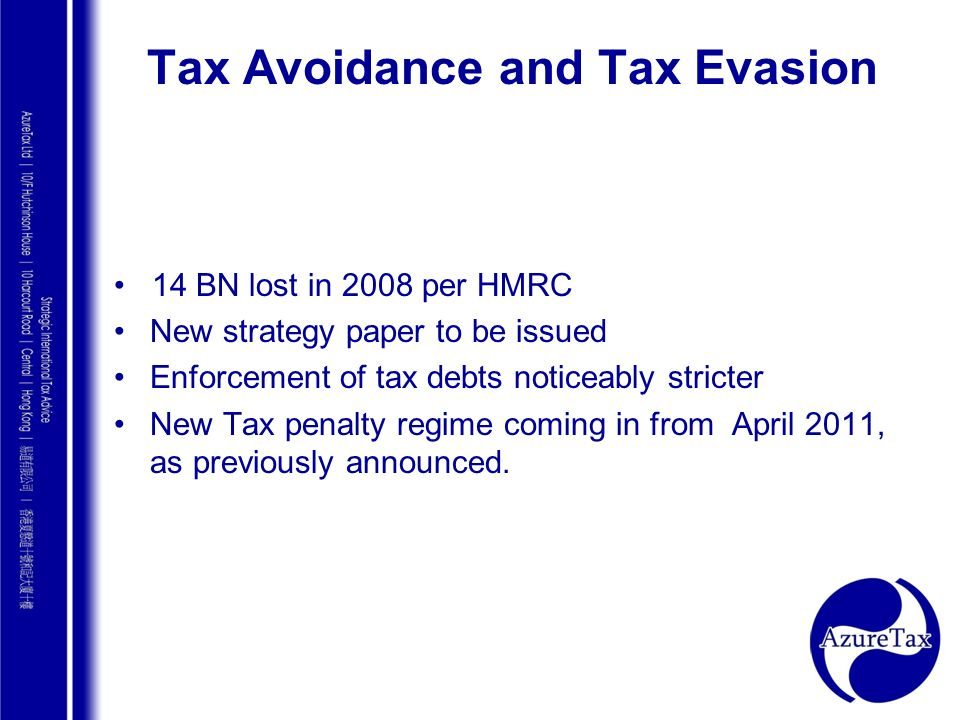 Tax Avoidance and Tax Evasion