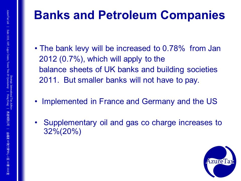 Banks and Petroleum Companies