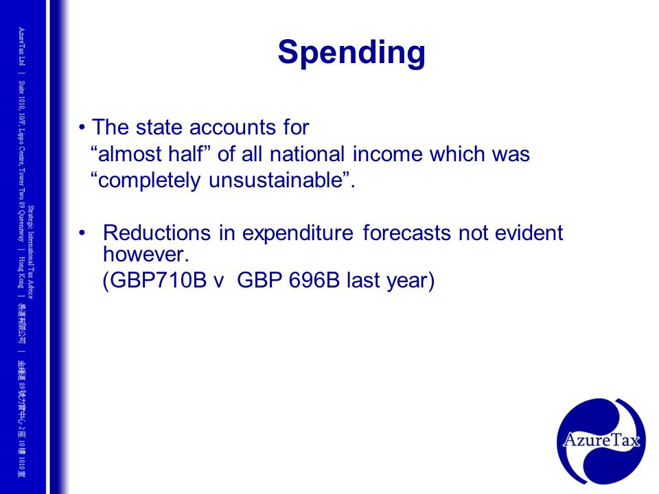 Spending • The state accounts for