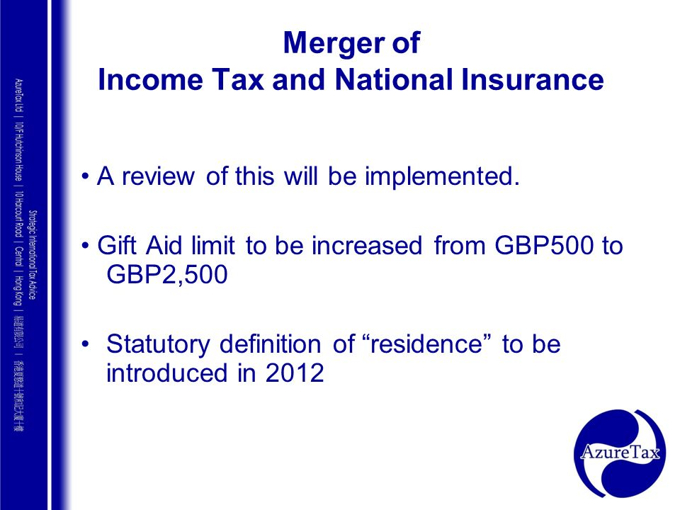Merger of Income Tax and National Insurance