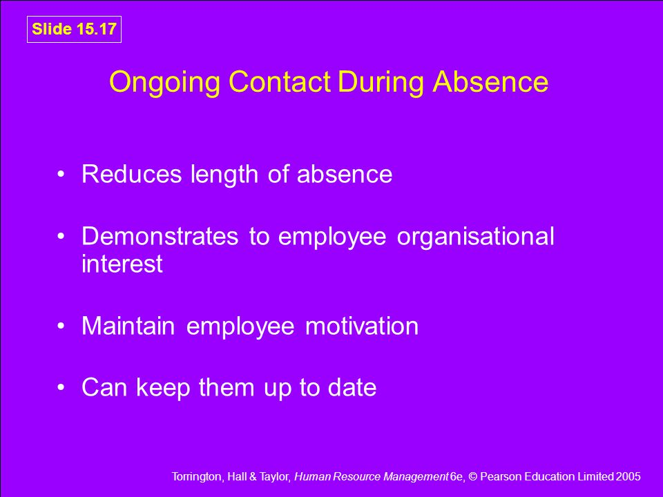 Ongoing Contact During Absence