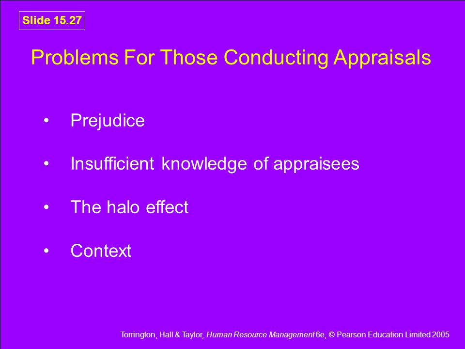 Problems For Those Conducting Appraisals