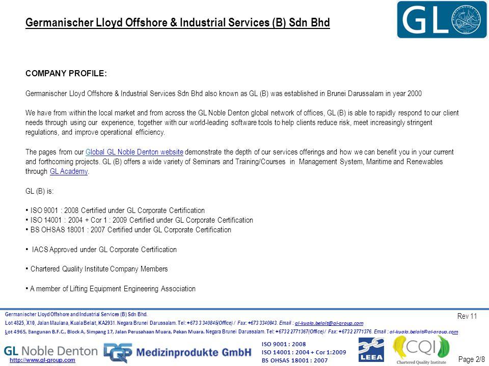 Germanischer Lloyd Offshore & Industrial Services (B) Sdn