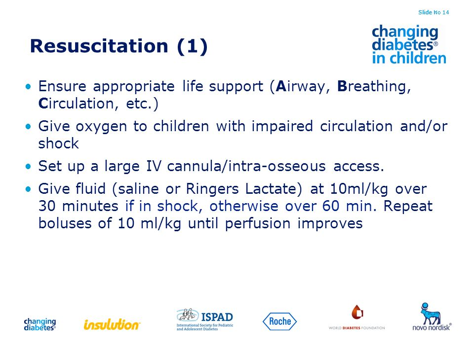 Slide no 14 Resuscitation (1) Ensure appropriate life support (Airway, Breathing, Circulation, etc.)