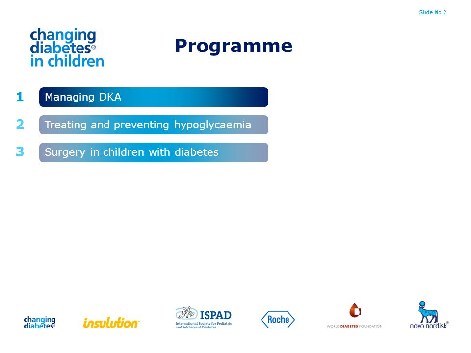 Programme Managing DKA Treating and preventing hypoglycaemia