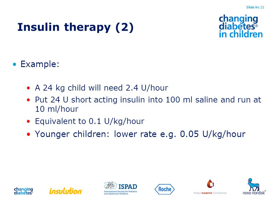 Insulin therapy (2) Example: