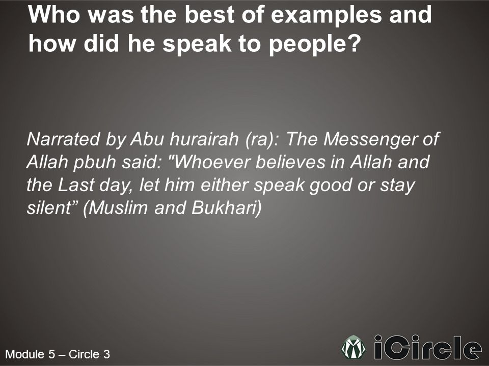 Who was the best of examples and how did he speak to people