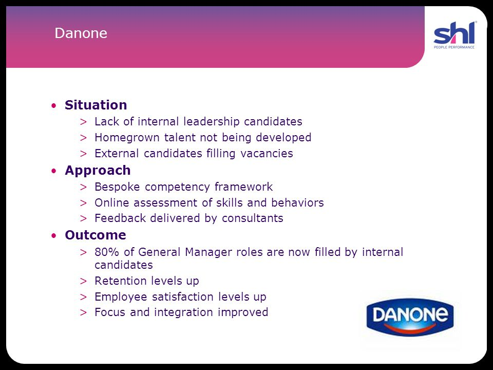 Danone Situation Approach Outcome