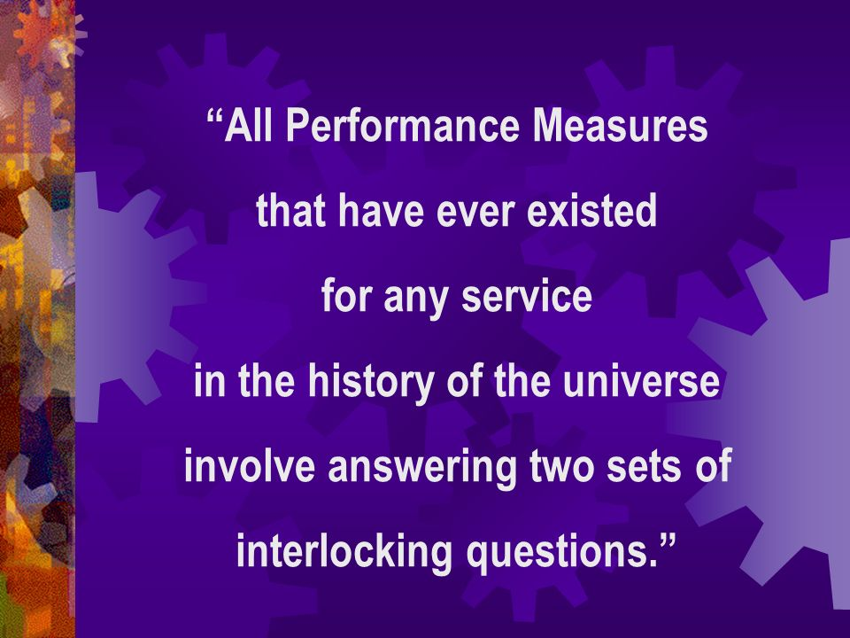 All Performance Measures that have ever existed for any service