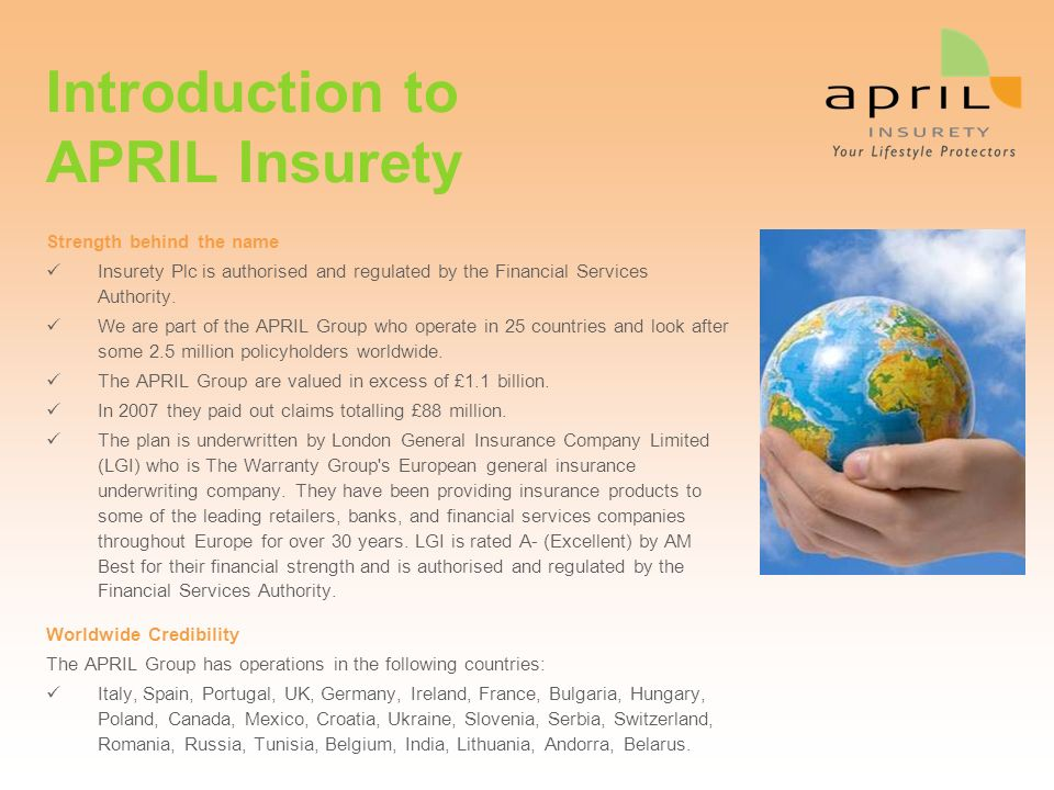 Introduction to APRIL Insurety