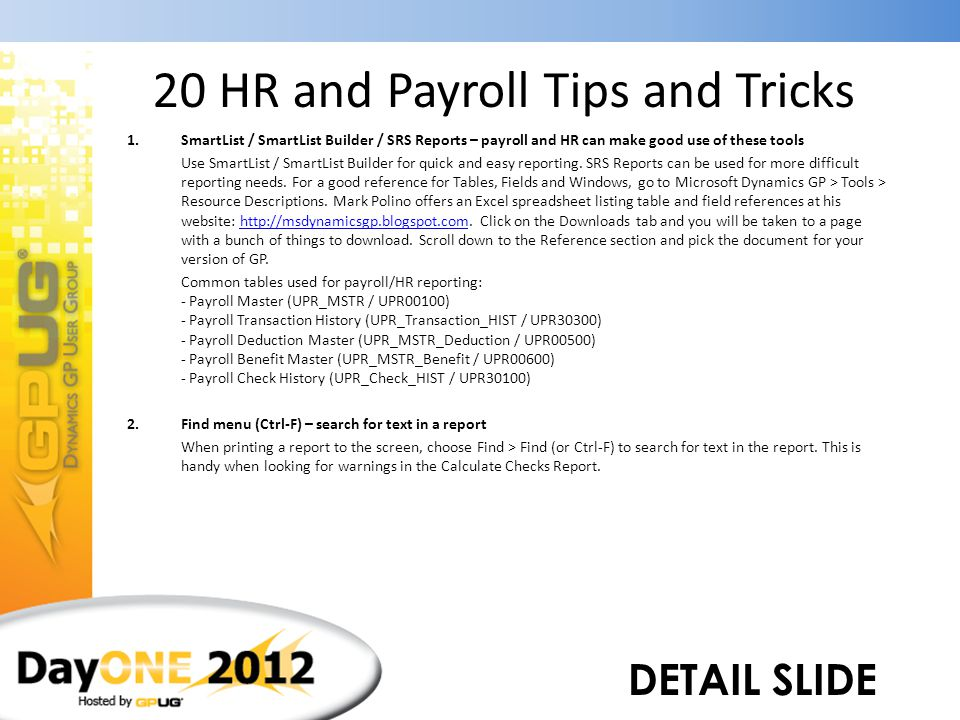 20 HR and Payroll Tips and Tricks - ppt download