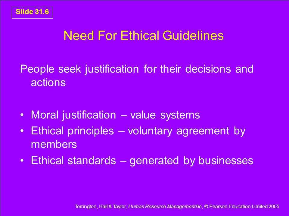 Need For Ethical Guidelines