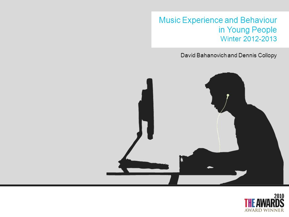 Music Experience and Behaviour in Young People