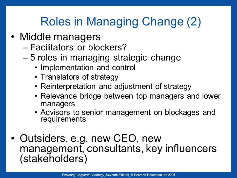Roles in Managing Change (2)