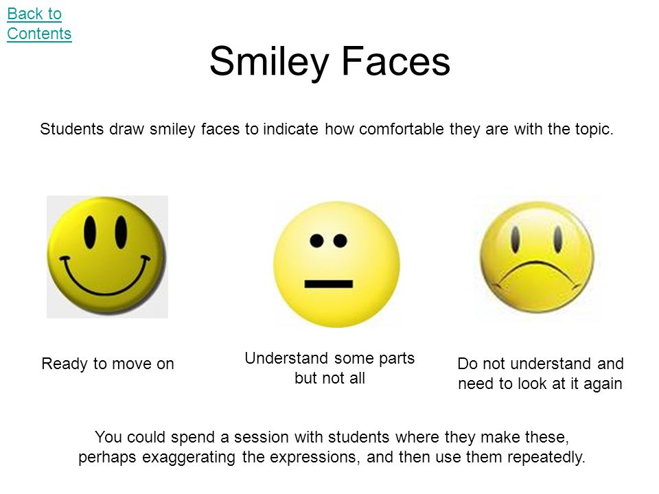 Smiley Faces Back to Contents