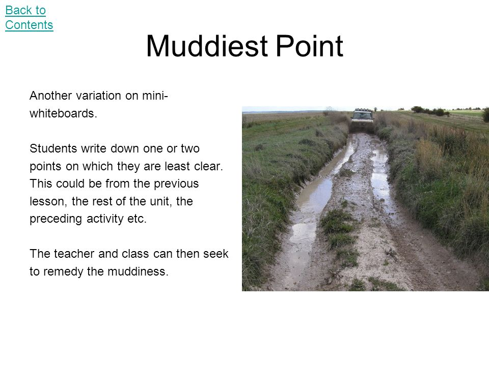 Muddiest Point Back to Contents Another variation on mini-