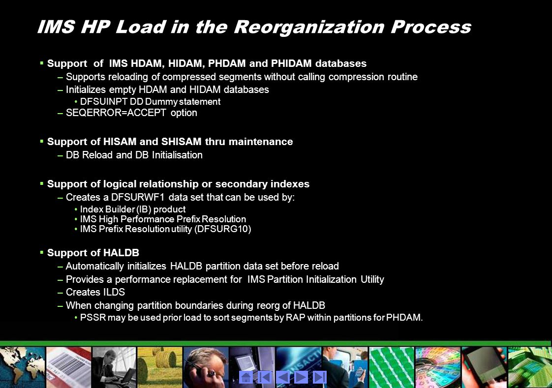 IMS HP Load in the Reorganization Process