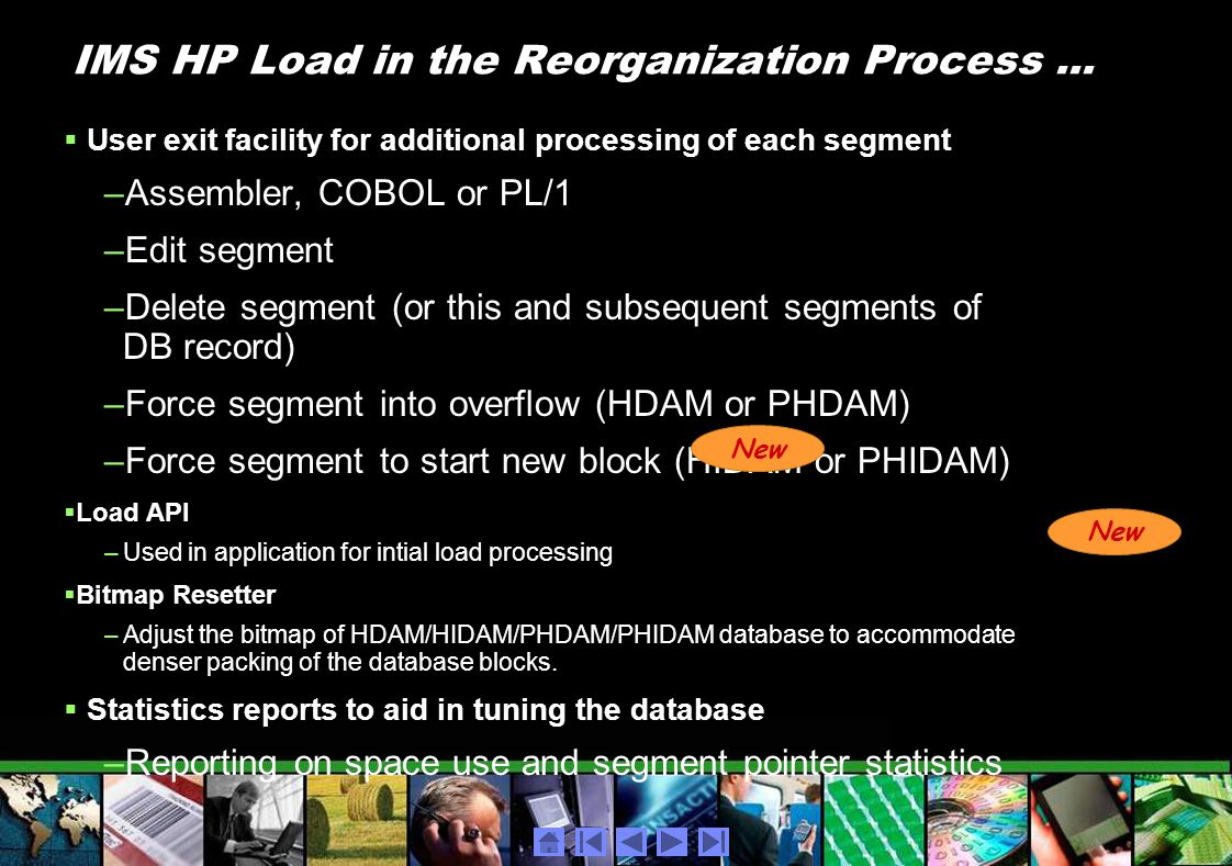 IMS HP Load in the Reorganization Process ...
