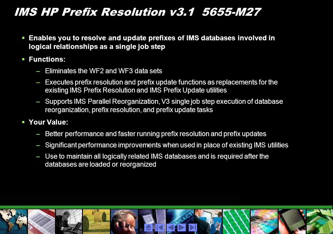 IMS HP Prefix Resolution v M27