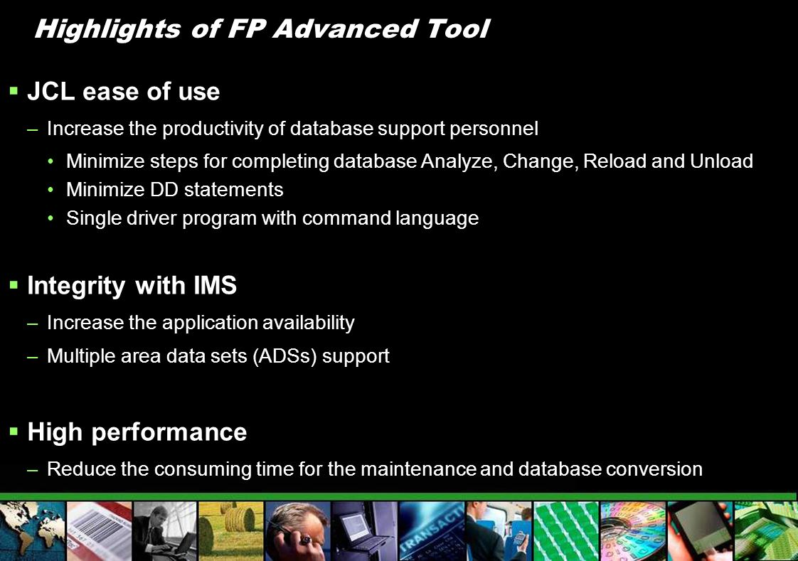 Highlights of FP Advanced Tool