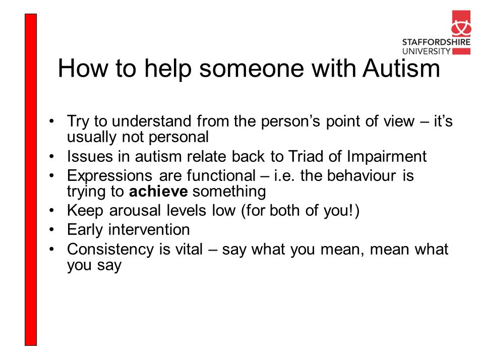 How to help someone with Autism