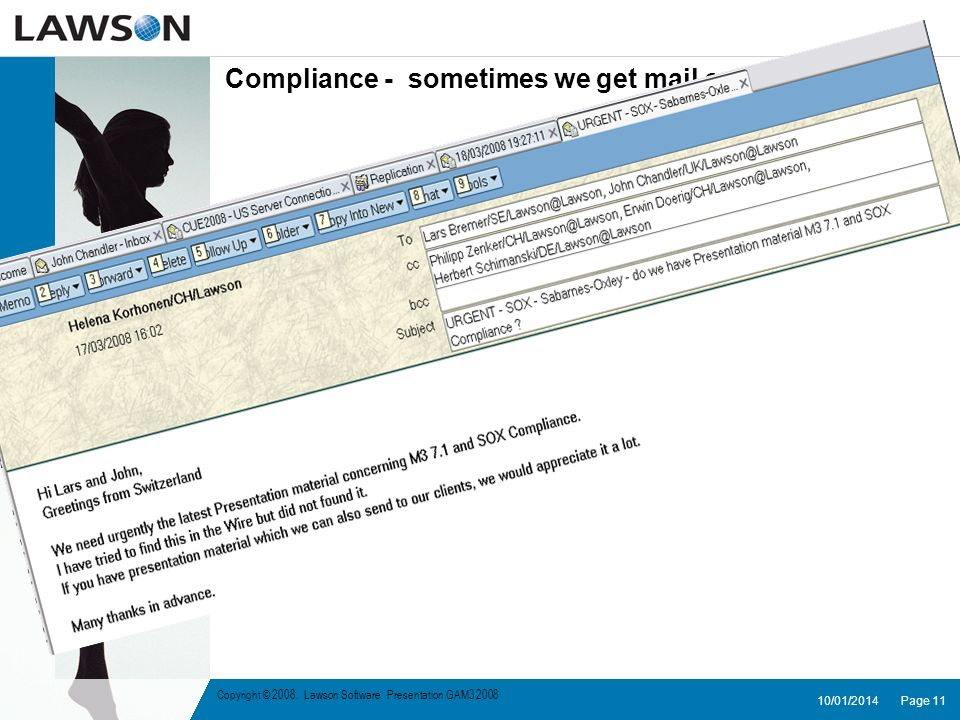 Compliance - sometimes we get mail on this topic