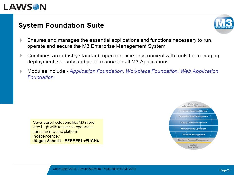 System Foundation Suite