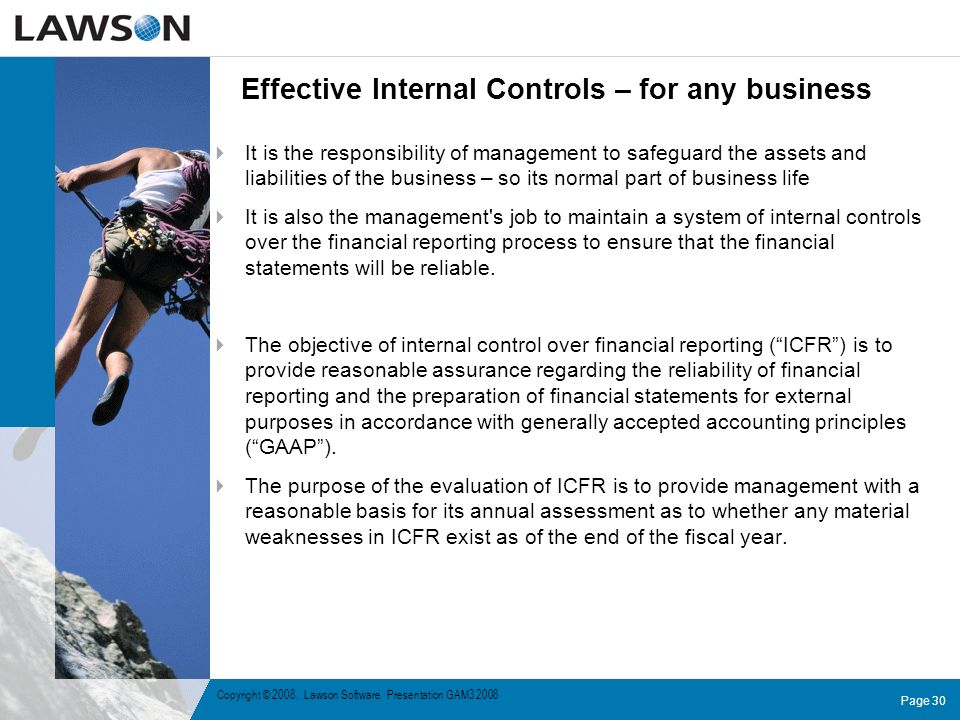 Effective Internal Controls – for any business