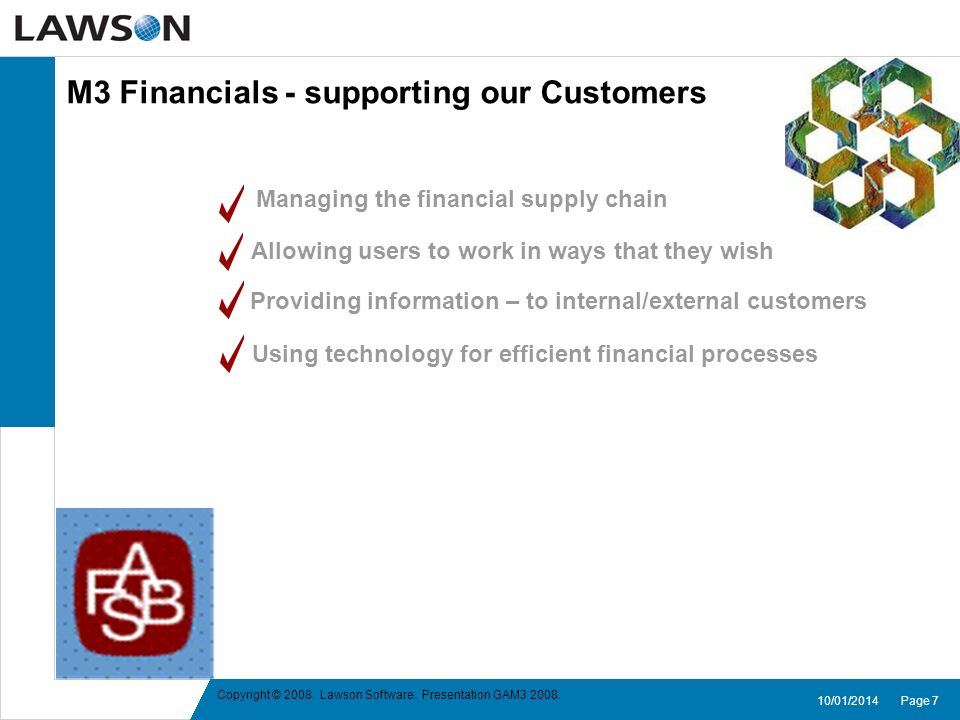 M3 Financials - supporting our Customers