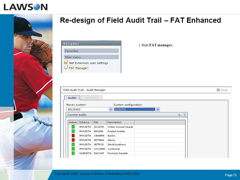 Re-design of Field Audit Trail – FAT Enhanced