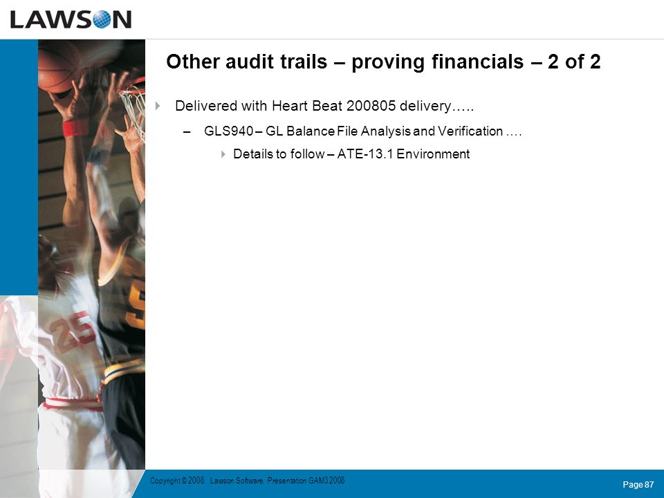 Other audit trails – proving financials – 2 of 2