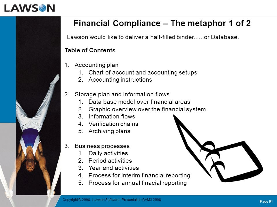 Financial Compliance – The metaphor 1 of 2
