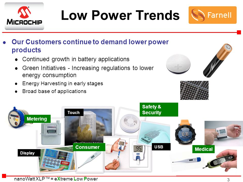 Low Power Trends Our Customers continue to demand lower power products