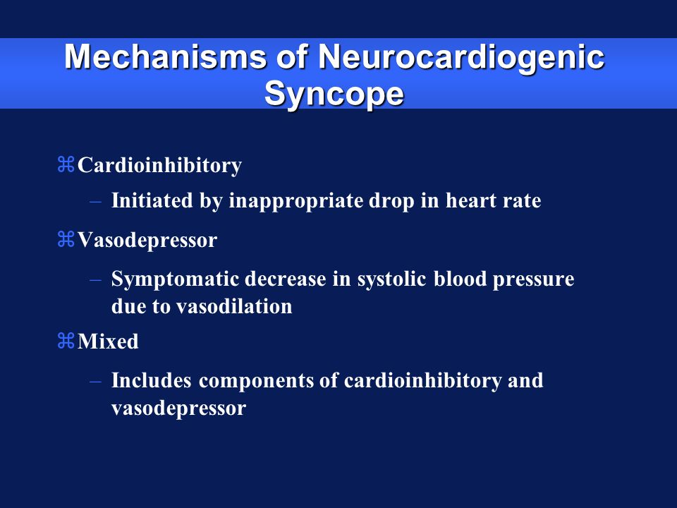 Mechanisms of Neurocardiogenic Syncope