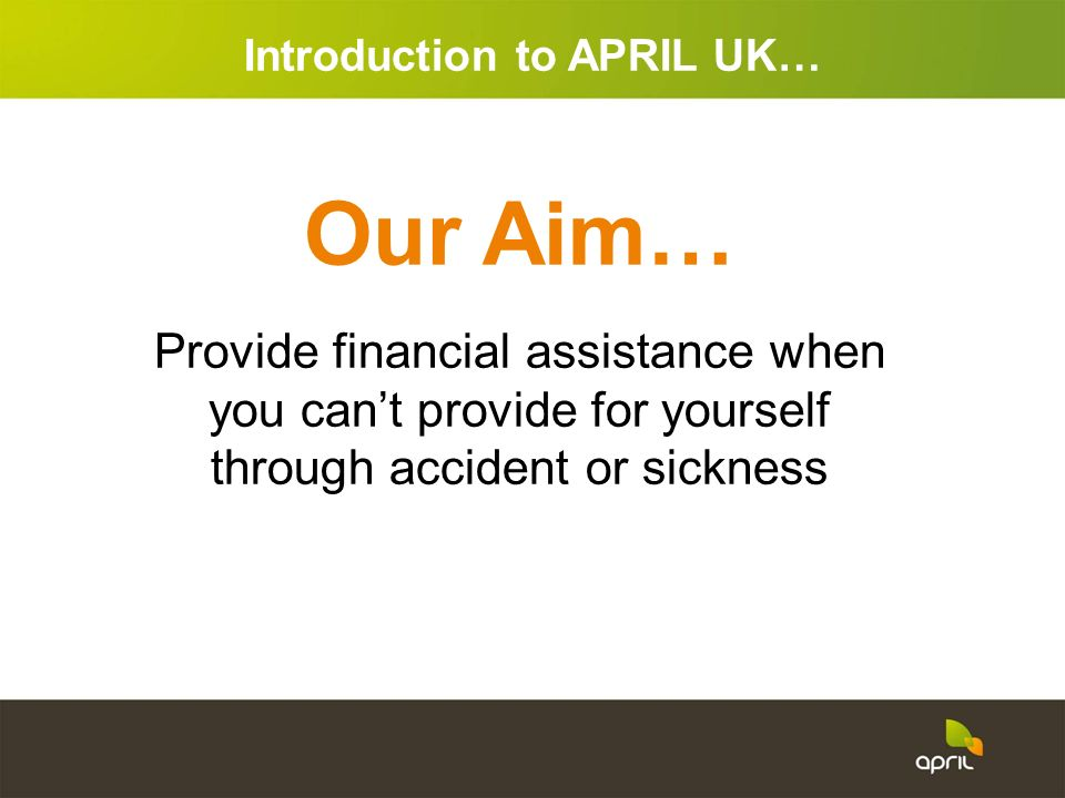 Introduction to APRIL UK…