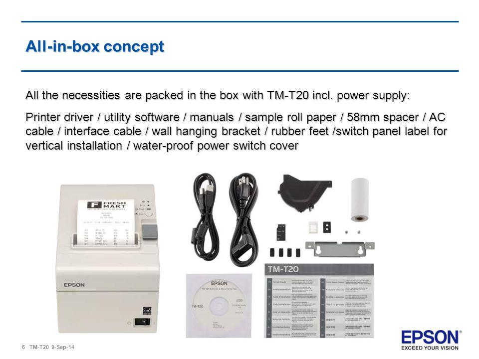 Epson TM-T20 Release: EPSON Europe B V  - ppt video online