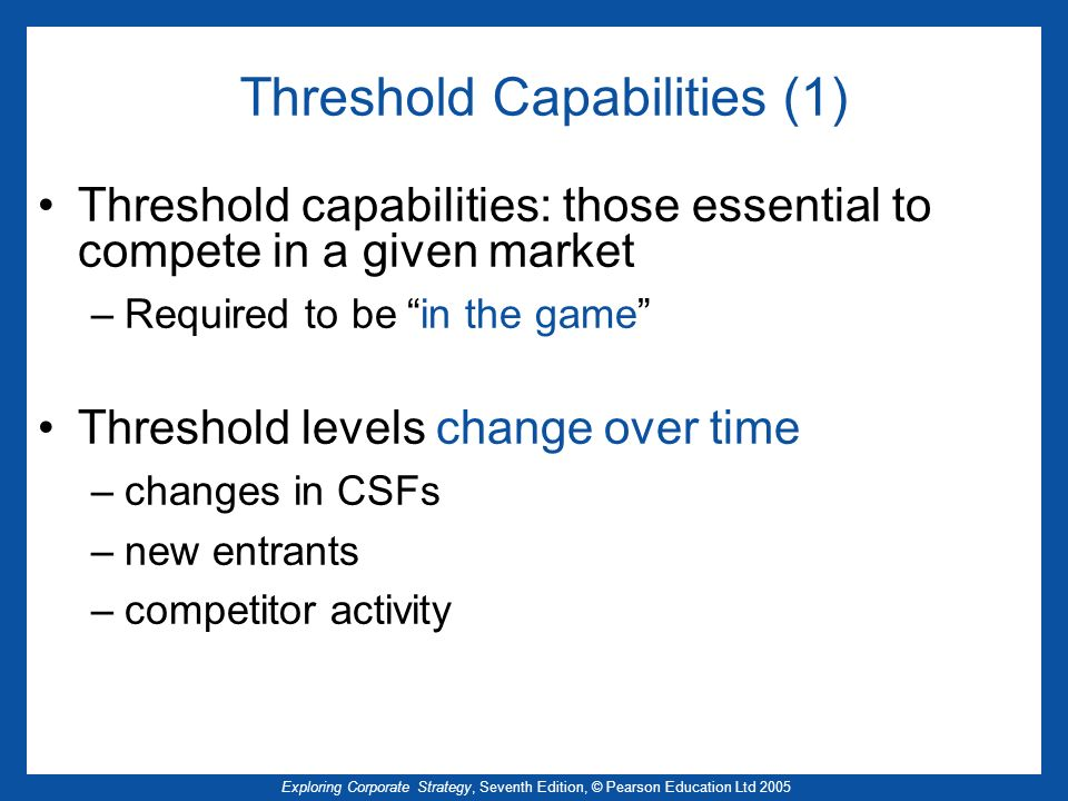 Threshold Capabilities (1)