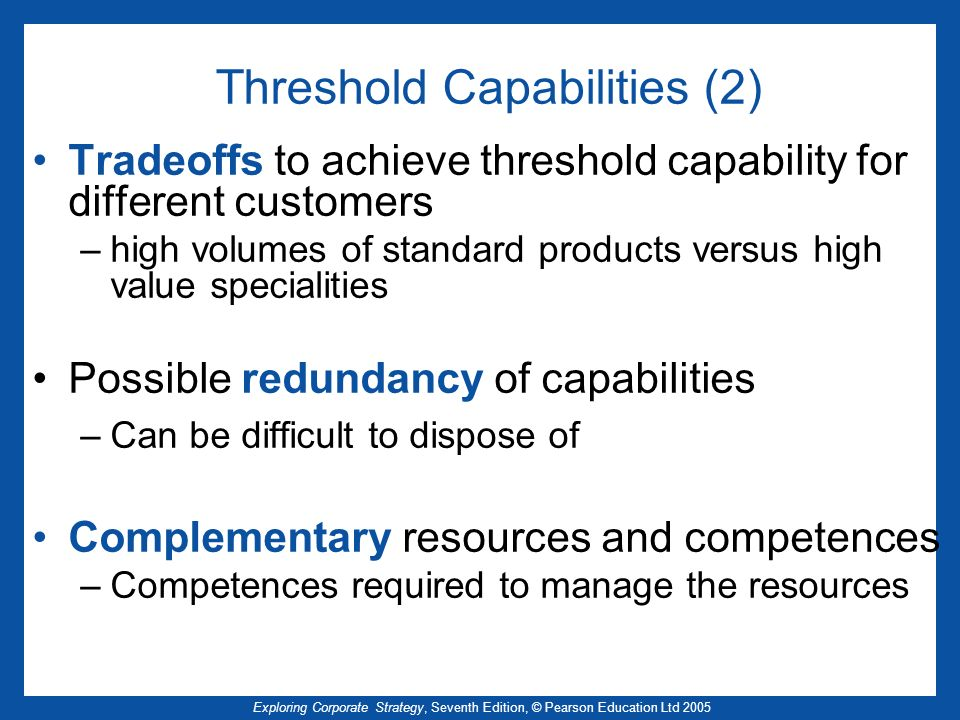Threshold Capabilities (2)