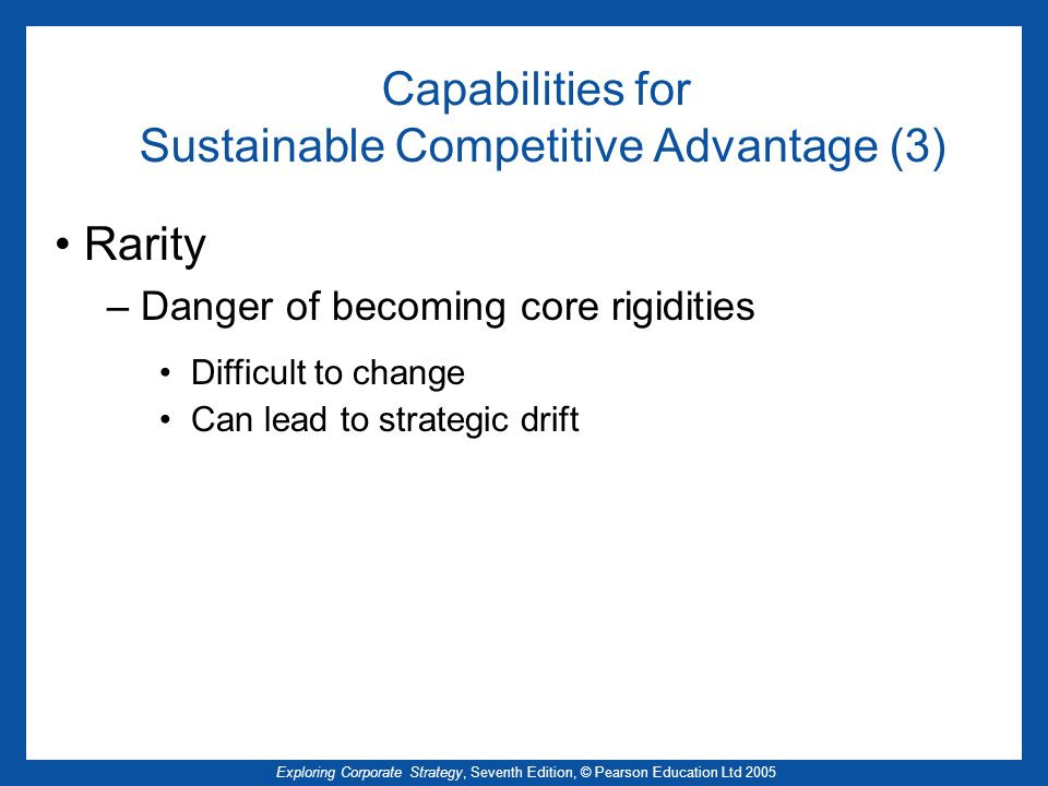 Capabilities for Sustainable Competitive Advantage (3)