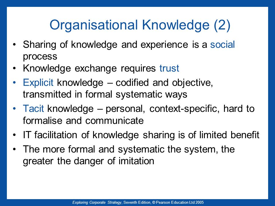 Organisational Knowledge (2)