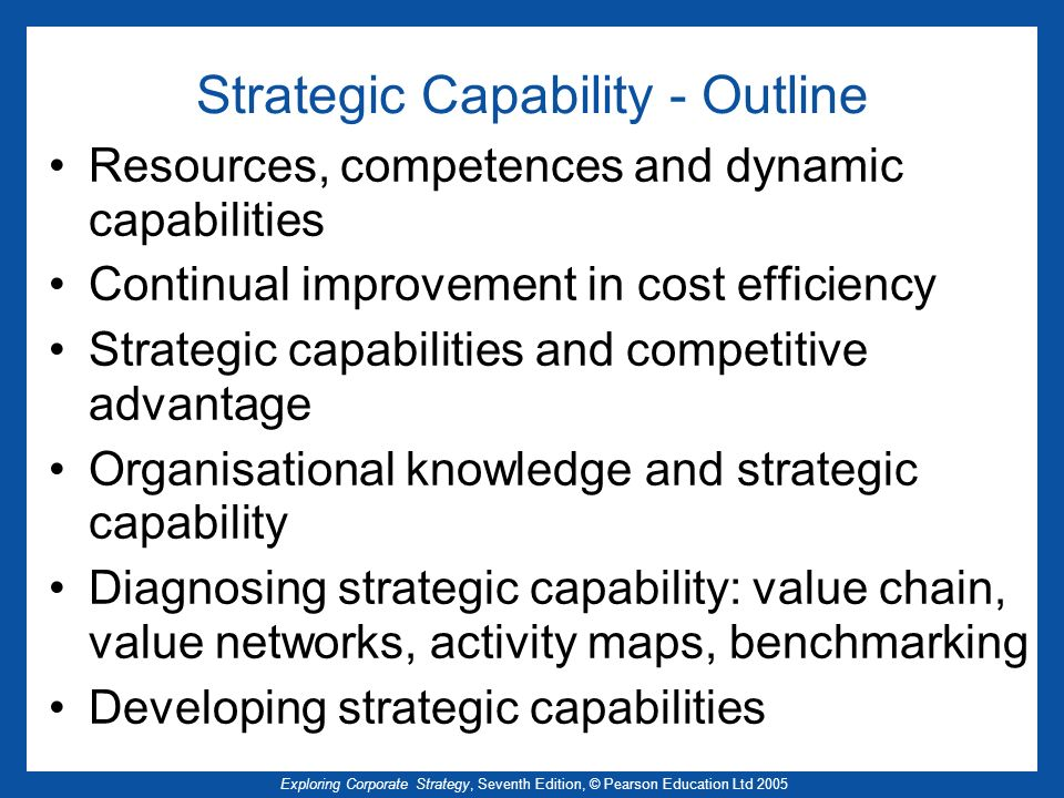 Strategic Capability - Outline