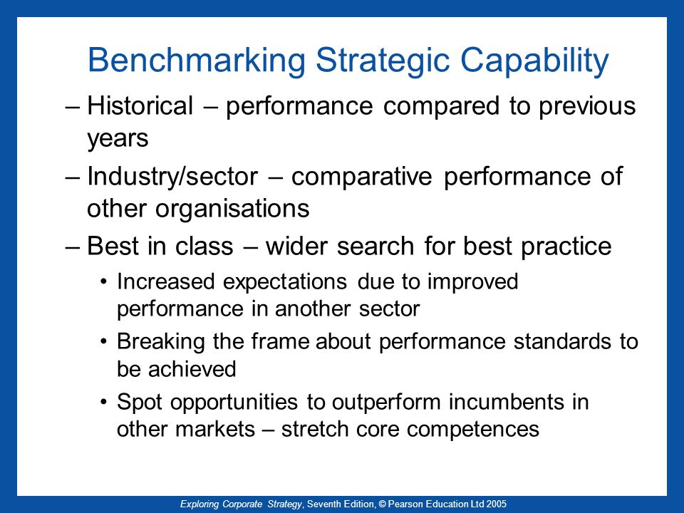 Benchmarking Strategic Capability