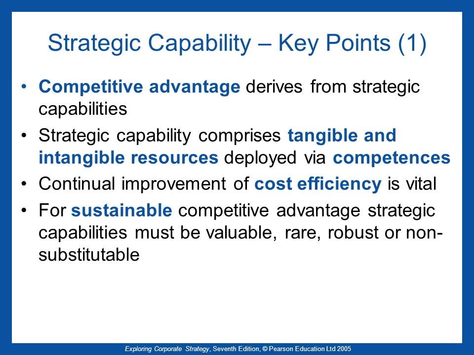 Strategic Capability – Key Points (1)