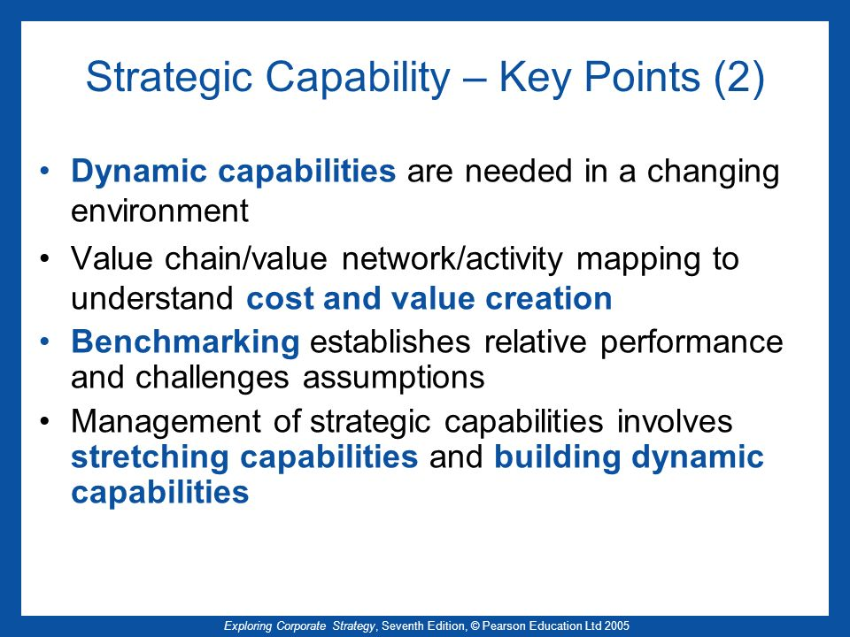 Strategic Capability – Key Points (2)