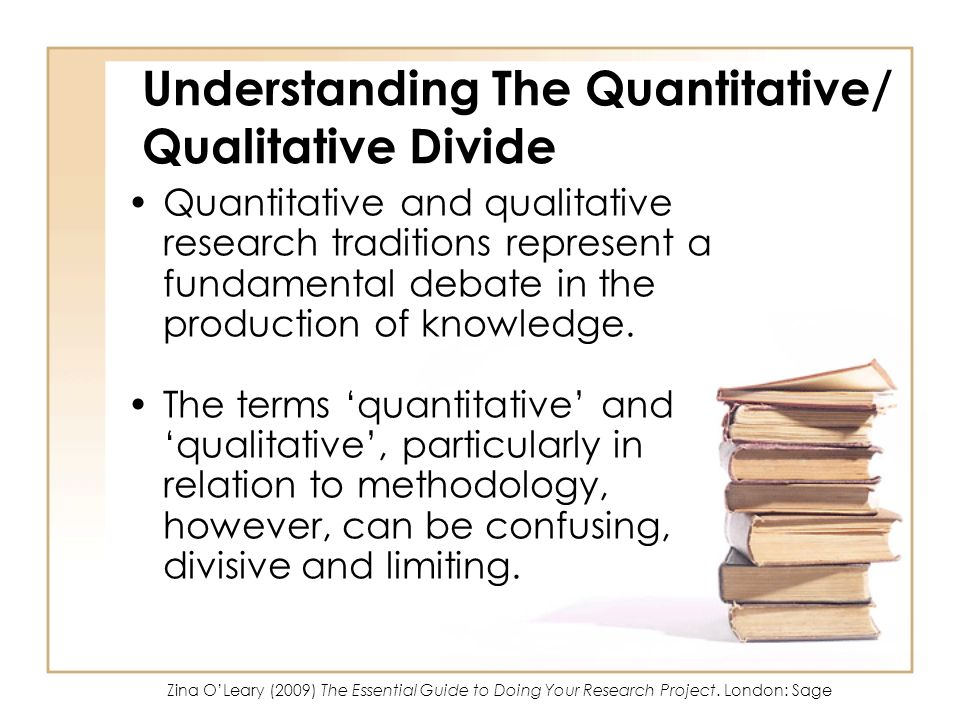 Understanding The Quantitative/ Qualitative Divide