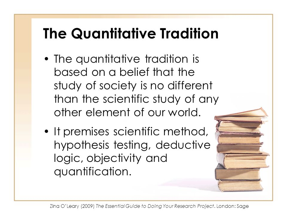 The Quantitative Tradition