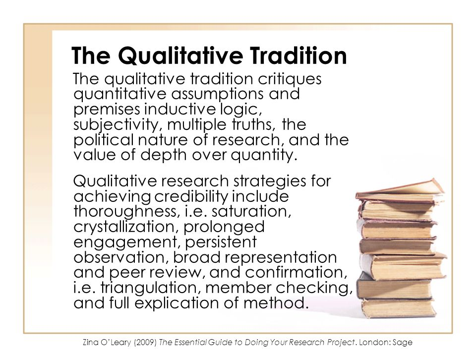The Qualitative Tradition