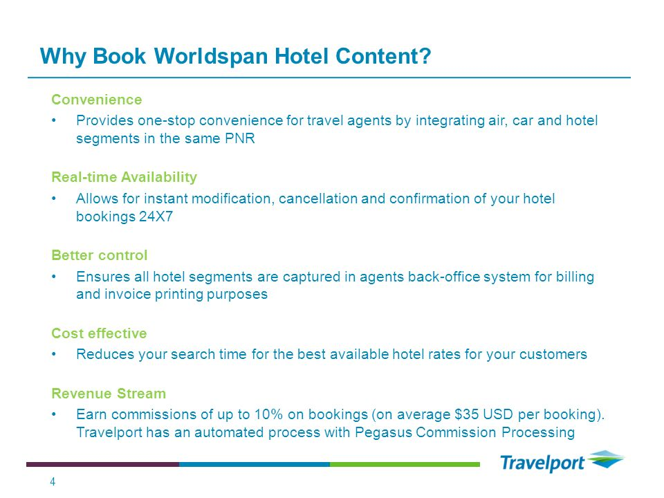 Why Book Worldspan Hotel Content