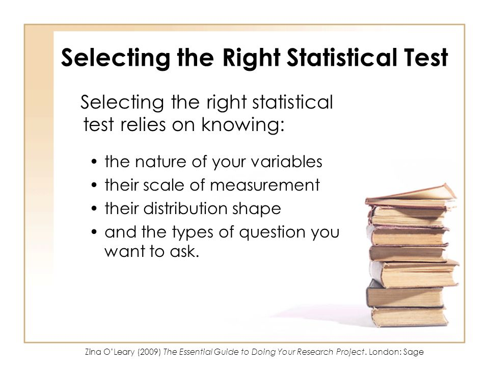 Selecting the Right Statistical Test